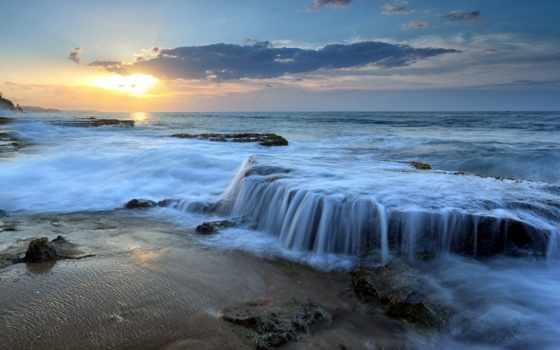 исцеление, намаз, музыка, deep, wasserfall, sonnenuntergang, поклонение, bible,