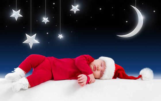 спит, ребенок, иней