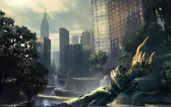 art, город, разруха