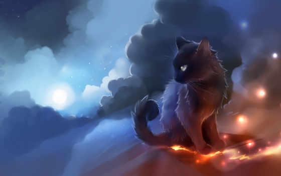 cats, fantasy, кошки