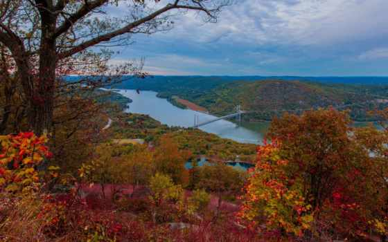 york, new, осень, нью, взгляд, верху, landscape, тег,