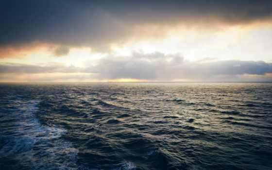 ocean, море, waves