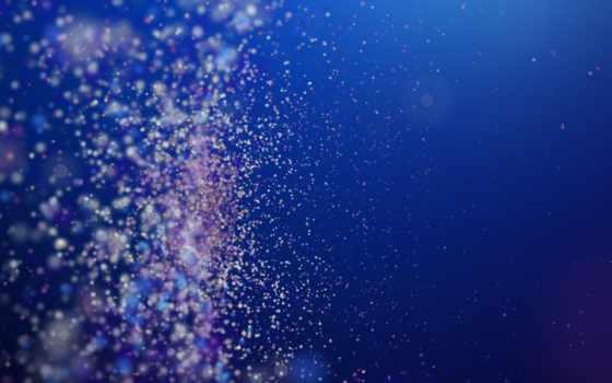 , голубой, частицы, пыль