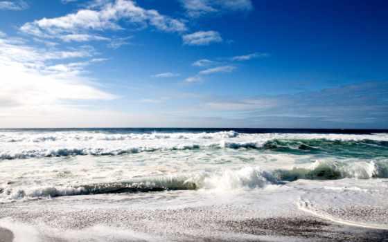 море, обоев, природа, nature, beach, cool, небо, красивая, волны, wallpapers, пляж, вода, skies,