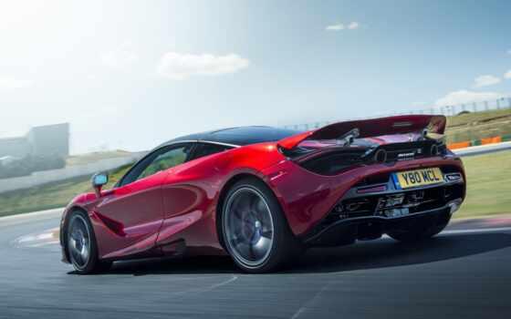 mcla, bordovyi, car, макларен, red, dark, авто, движение, суперкар