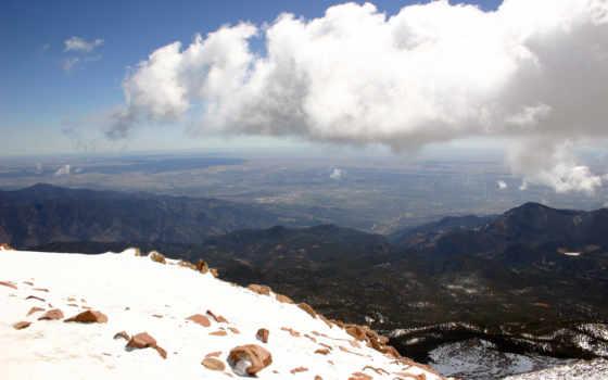 горы, небо