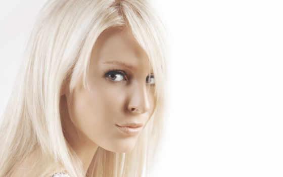 лицо, девушка, white