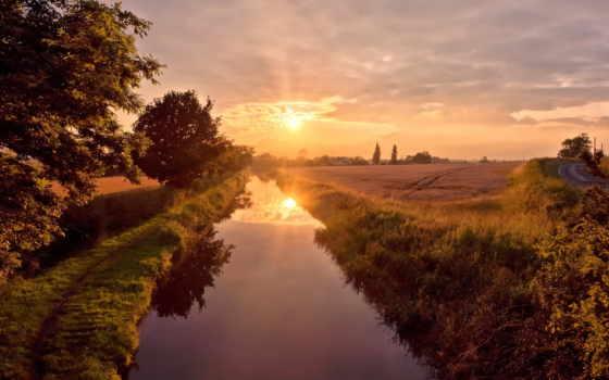 река, summer, sun