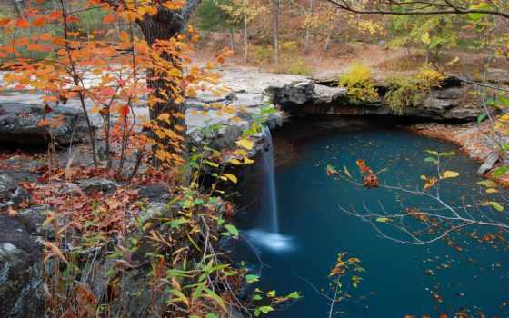 winter, пруд, водопад, olympia, landscape, дерево, waterfalls, falls, landscaping, лес,