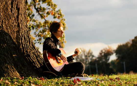 парень, гитара, гитаре, музыка, youtube, играет, дерева, гитарой, жаным, суйемин, seni,