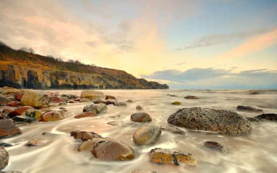 waves, камни, берег