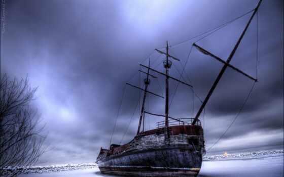 корабль, но, некогда, чудеса, бригантина, гордый, галеон, scour, море, они, сегодня