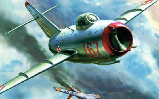 pictures, истребитель, авиация, самолеты, рисованные, миг, против, mig, окб, советский, fagot, микояна, гуревича,