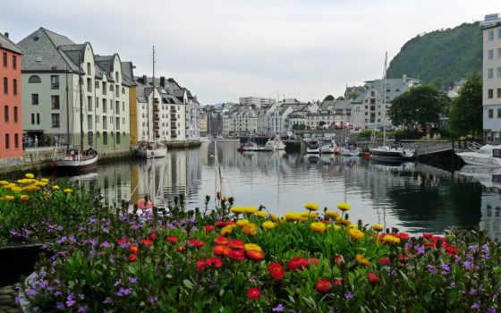 норвегия, города, картинка