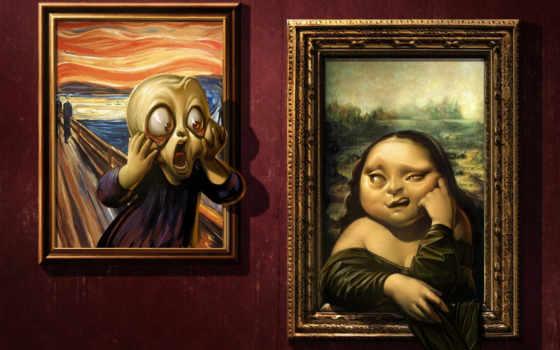 mona, лиза, картины