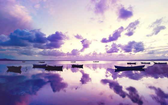ocean, закат, purple, заставки, море, фоны, ск,