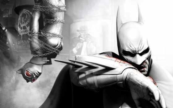 batman, arkham, город, игры, game, кот, женщина, joker,