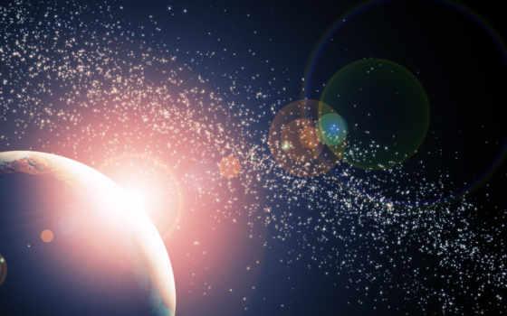 космос, свет, звезды