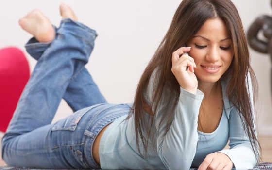 девушка, телефона, conversation, телефону, разговаривает, разговоры,