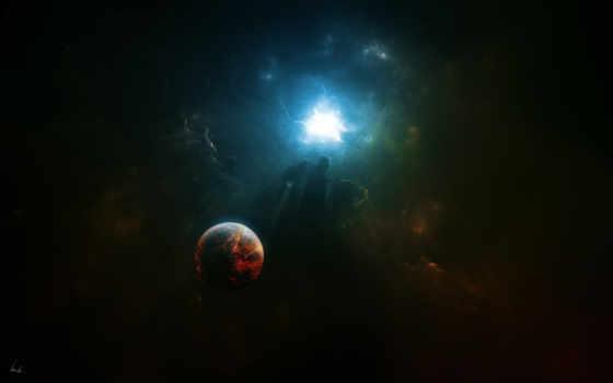 fondos, pantalla, planetas