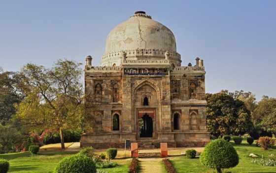 india, gardens, lodi, дели, tomb, gumbad, ornate, потрясающие,