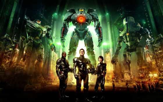 фантастика, pacific, rim, рубеж, war, robot,