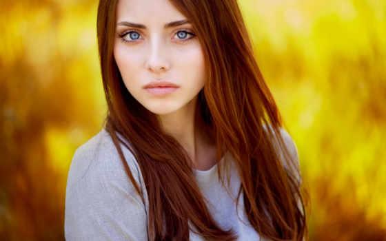 hår, pige, rødt, sløring, øjne, модель, baggrund, gratis, røde, afspilninger,