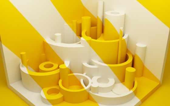 amarillo, blanco, fondo, formas, pantalla, fotos, iconos, fondos, con, фотообои,