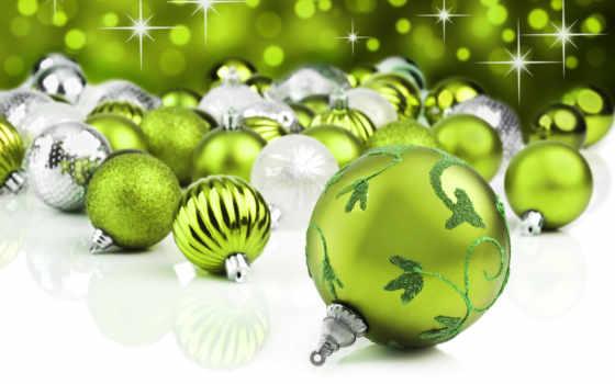 шары, зеленые