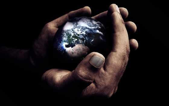 земля, руки, planeta, mir, kosmos, просмотреть,