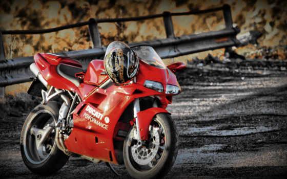 ducati, red, bike