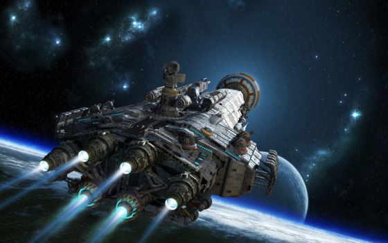 корабль, cosmic, космические, корабли, рисунков, будущего, initial,