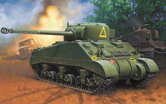 sherman, firefly, танк, revell, war, thunder, обзор, vc,