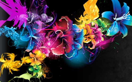 краски, cvety, абстракция, узоры, свет, точки, линии, текстуры,