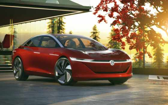 volkswagen, electric, new, car, vw, vizzion, concept, vehicles,