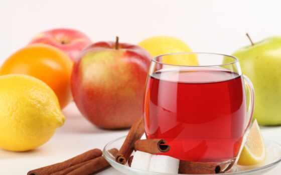 lemon, напиток, яблоко, сахар, фон, тема, letnii, смена, любит, автор, mac