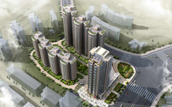 photoshop, город, нарисованный, architecture, ë¾, arch, landscape, view,