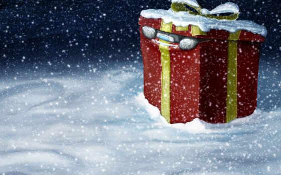 подарок, год, новый, christmas, зима, снег,