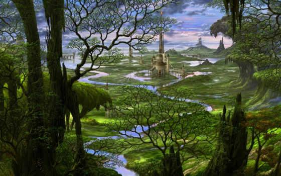 fairytale, castle, forest, tale, fairy, kazamasa, uchio,