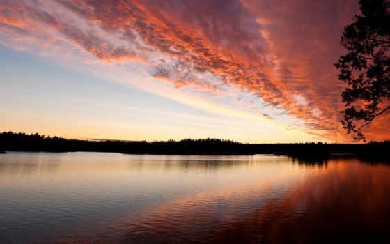 закате, природы, разрешениях