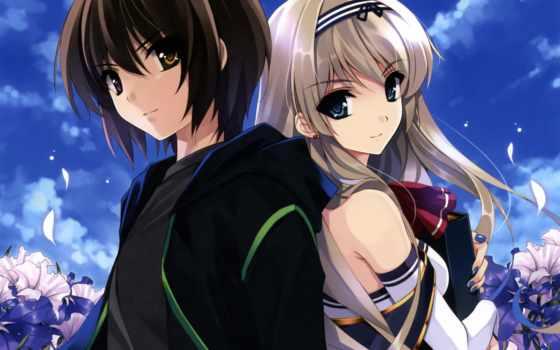 anime, парень, девушка Фон № 91600 разрешение 1920x1200