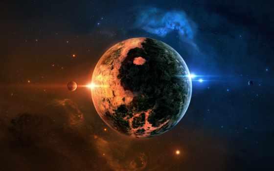 звезды, планеты, широкоформатные
