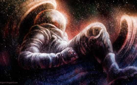 космос, art, stars, астронавт, digital, this, также,
