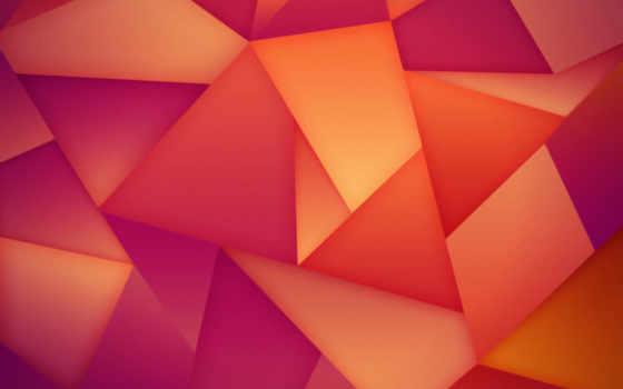 абстракция, треугольники, грани, линии,
