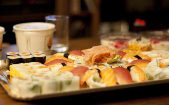 sushi, роллы, японская