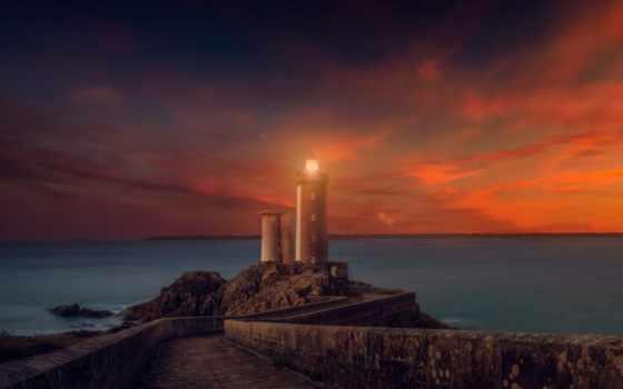 закат, desktop, lighthouse, природа, resolutions, mobile, available, 4k,