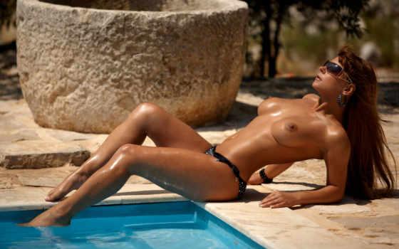 mikerelax, бассейн, девушка, эротика, nipples, dorothy, black, эро, грудь, sunglasses, горячие,