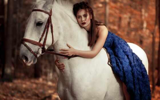 лошадь, настроение, страница, девушка, красивые, помада, платье,