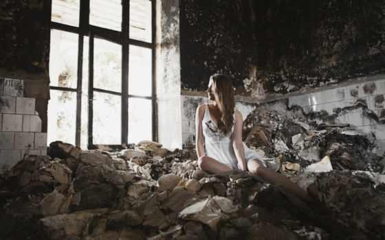 девушка, заброшенном, фотосессия, картинка, окно, dome, старом, стильных, заброшенных, диване, оголенная,