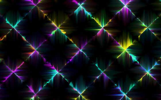 neon, огни, dark, square, colorful